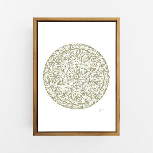 Sahara Mandala in Sage Wall Art | CANVAS