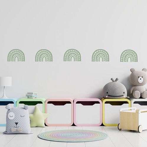 Rainbow Arch Mini in Celedon Green   WALL DECAL