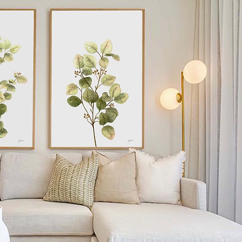 Eucalyptus Native Living Art 1 in White Wall Art | FRAMED