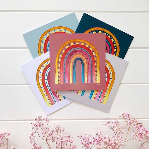 Rainbow Warrior Greeting Card 6 Pack | Various Colours
