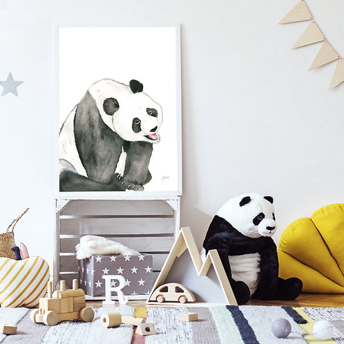 Layla the Baby Panda Bear Print