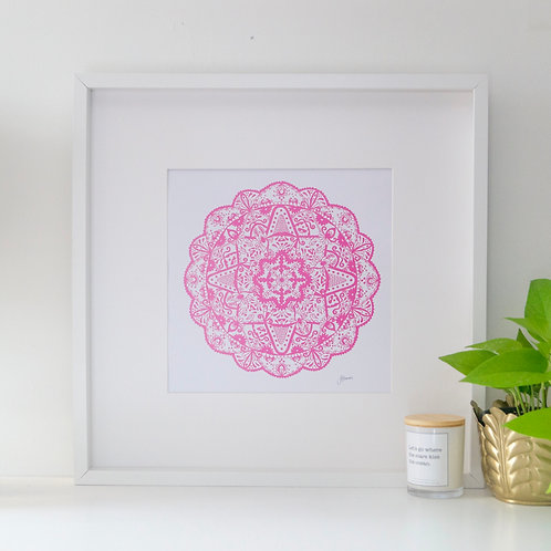 Marrakesh Mandala Print in Fuchsia