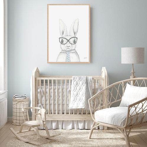 Franklin the Boss Bunny Rabbit Fine Art Print | FRAMED
