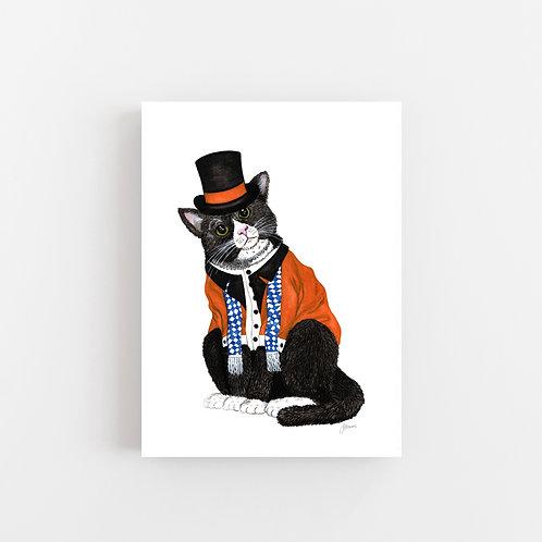 Wesley the Dapper Cat Wall Art | CANVAS
