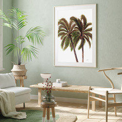 Palm Breeze in White