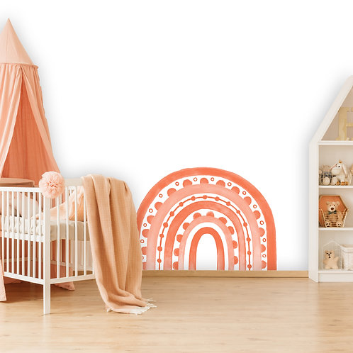 Rainbow Arch in Coral   WALL DECAL