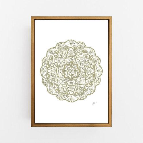 Marrakesh Mandala in Sage Wall Art | CANVAS