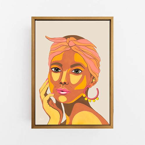 They call me Lola in Ivory Art Print | CANVAS
