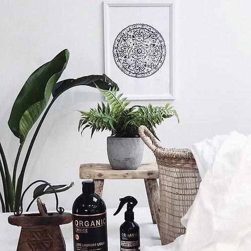 Sahara Mandala Print in Black