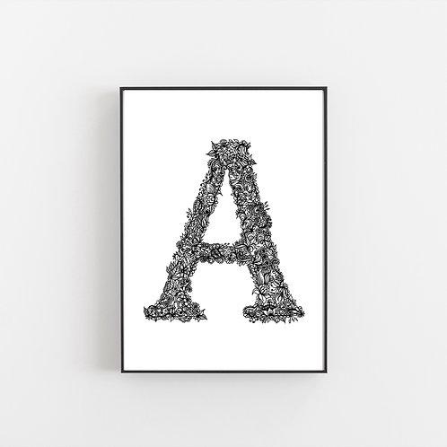 The Secret Garden Alphabet Prints A B C D E F G