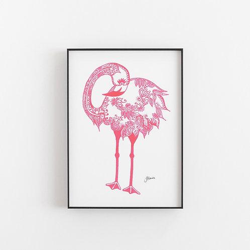 Bohemian Love Flamingo Print