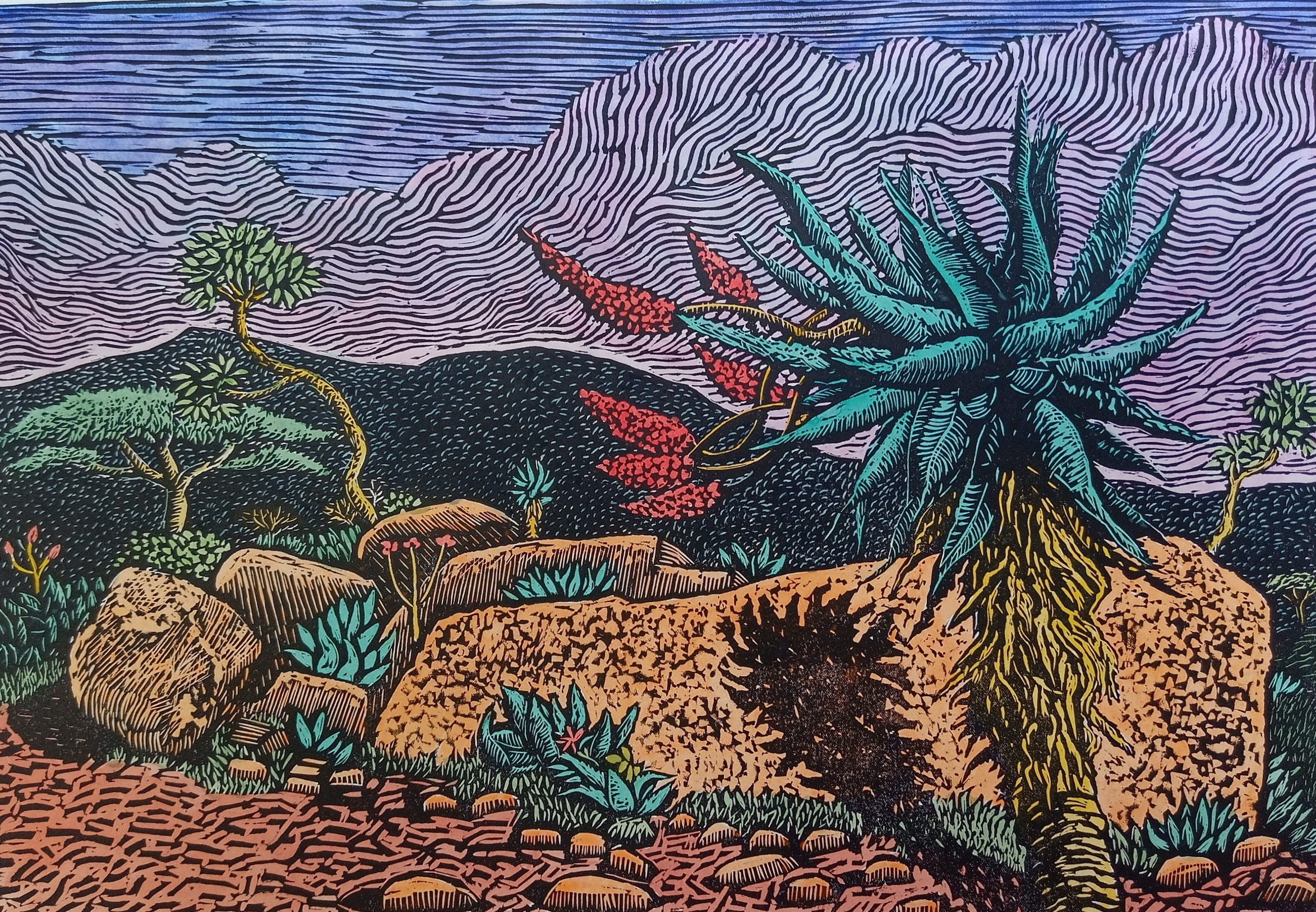Aloe: Three Tree Hill III, 2021