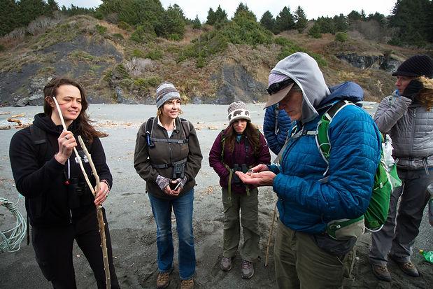 Group Looking at Praying Mantis Oothica in Raven Pellet.jpg