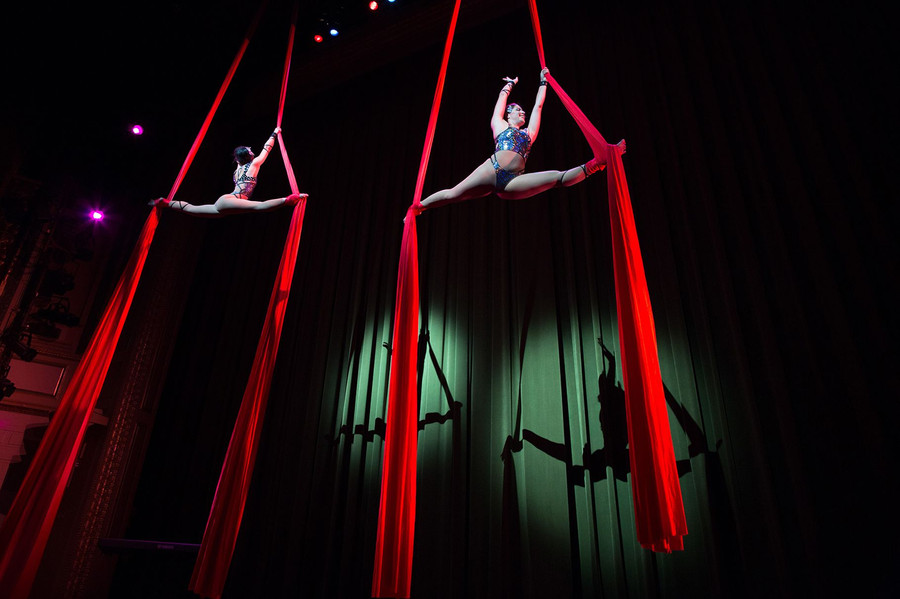 Aerial Silks Stage Show