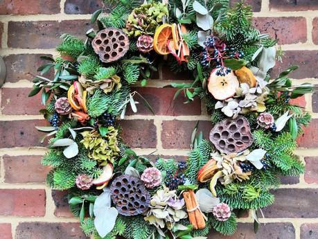 Eco-friendly wreath workshop