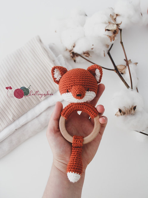 Foxy Organic Teething  Rattle