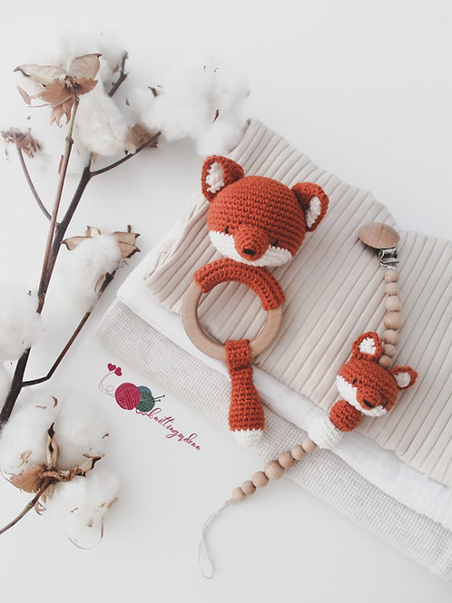 Organic Foxy Teething Set