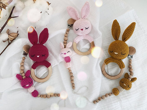 Bunny Teething Set