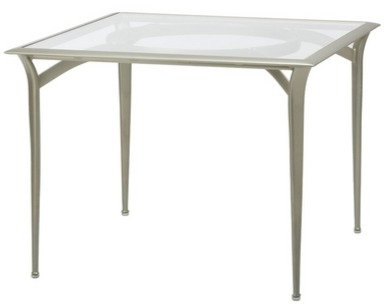 """Flight 36"""" Sq Bistro Dining Table w/Glass Top"""
