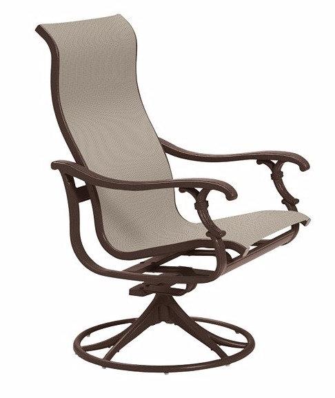 Tropitone Ravello Sling High Back Swivel Chair