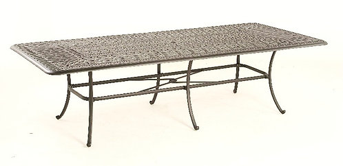"""Biscayne 110""""  Rect Dining Table Cast Top"""