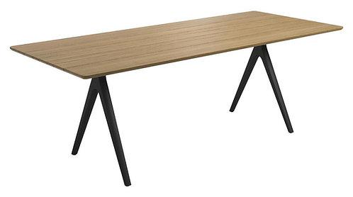 "Split 86.5"" Dining Table - Teak Top"