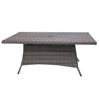 """Bermuda 72"""" Rect Dining Table w/ Glass Top"""