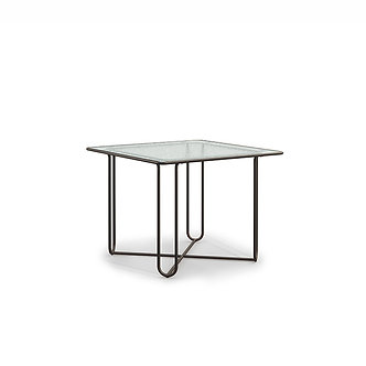 """Walter lamb 38"""" Square Dining Table Glass"""
