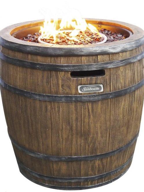 Wine Barrel Fire Pit Premium