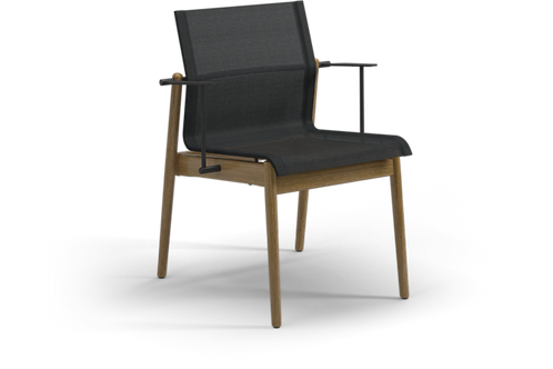 Gloster Sway Stacking Dining Arm Chair