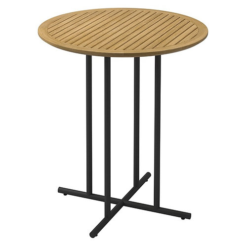 """Gloster Whirl 35"""" Rd Bar Table w/Teak Top"""