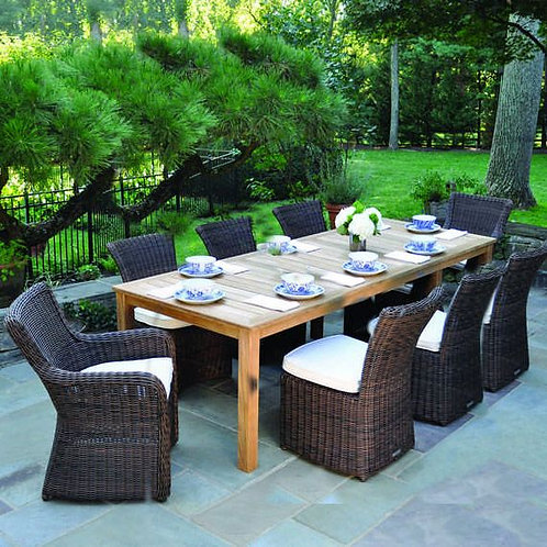 Kingsley Bate Sag Harbor 8 Seat Rectangular Dining Set