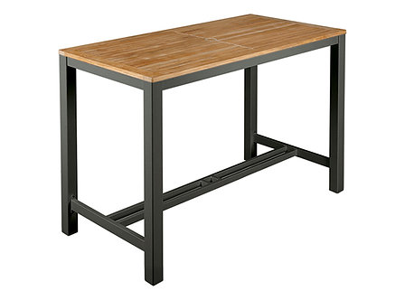 "Aura High Dining 55"" Table w/Teak Top"