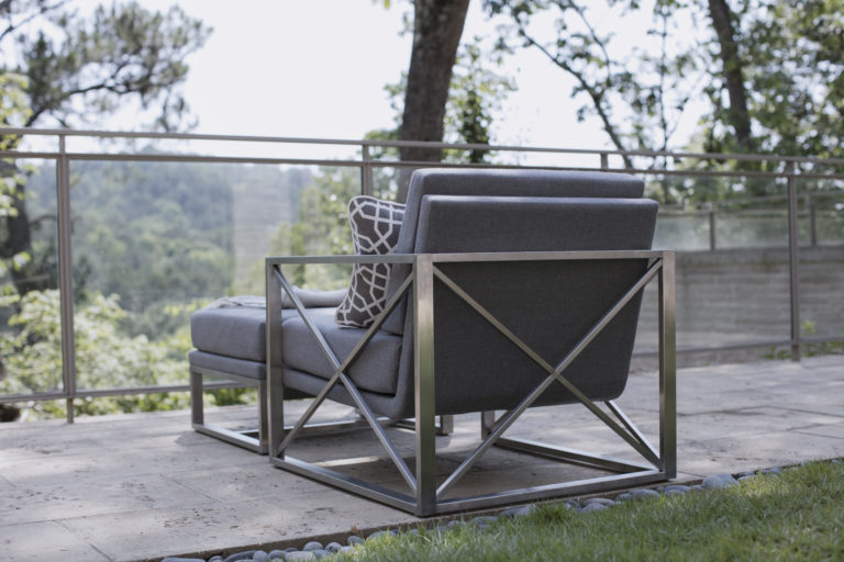 Summer Classics Acero Lounge Chair and Ottoman