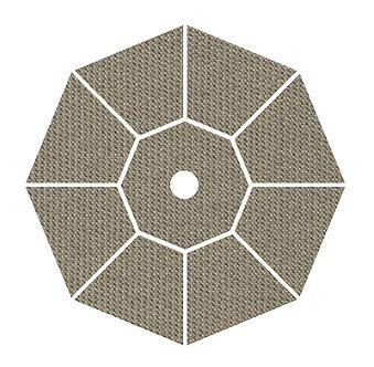 "Sunbrella Fabric - Taupe - 4""x 4"" Swatch"