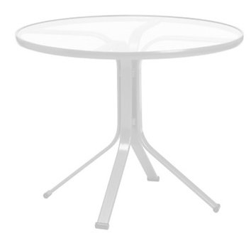 """Quantum 30"""" Rd Glass Top Bistro Dining Table"""