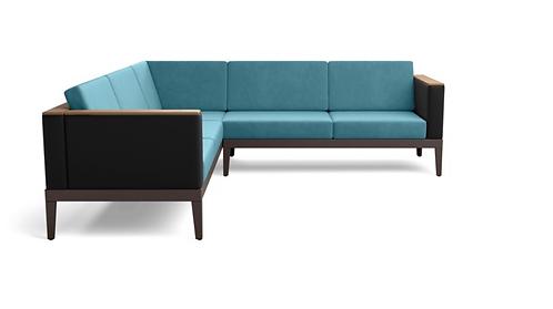 Barlow Tyrie Aura Deep Seating Modular 5 Cushion Sectional