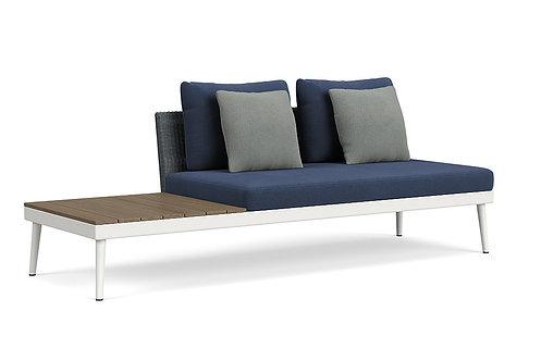 20Twenty Right Armless Sofa w/Driftwood End Table