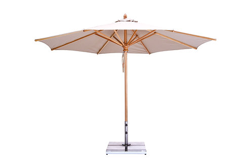 Wooden 9' Market Umbrella - Round
