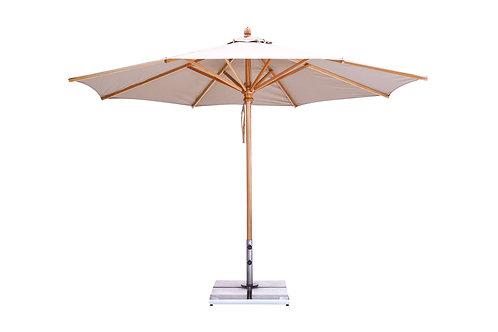 Wooden 11.5' Market Umbrella - Round