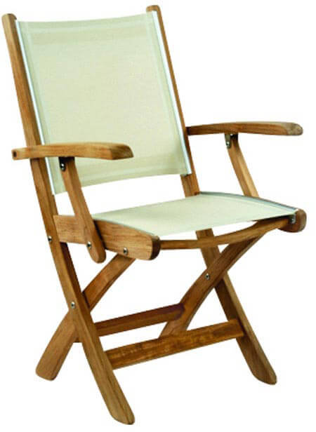 Gloster, Brown Jordan, Kingsley Bate, Barlow, Premium Teak and Sling Foldable Chair