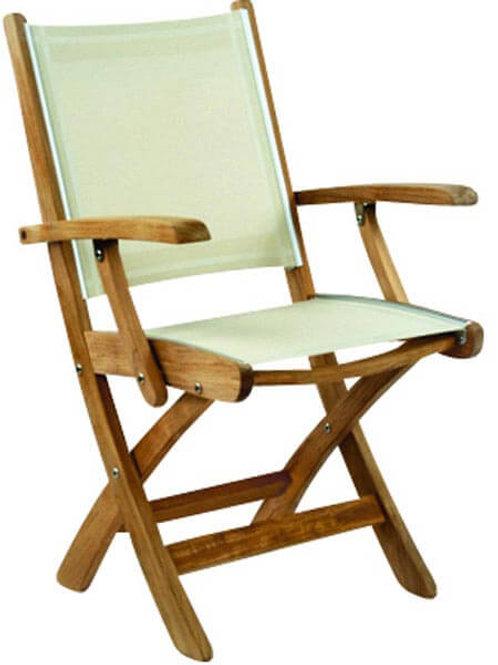 Gloster, Brown Jordan, Kingsley Bate, Barlow, Premium Teak and Sling Foldable Chair