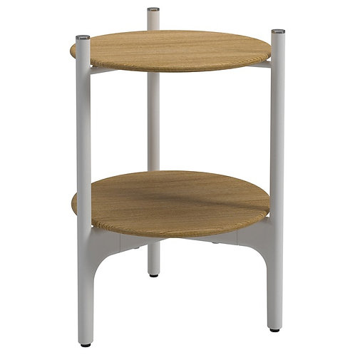 Gloster Grand Weave Round Teak Side Table