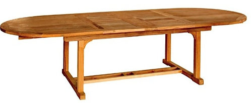 "Teak 118"" Oval Extension Table"