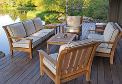 Kingsley Bate Chelsea Sofa and Lounge Chairs