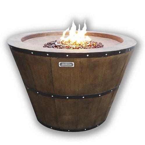 Wine Barrel Fire Pit Deluxe