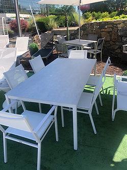 Equinox Painted White Dining Set