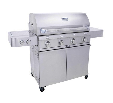 Saber 4 Burner Gas Grill Stainless 670
