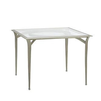 "Flight 36"" Sq Dining Table w/Aluminum Top"