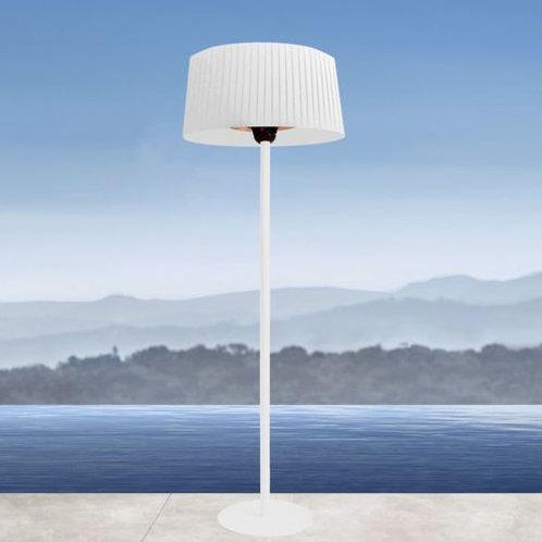 Shade Heated Floor Lamp - Black